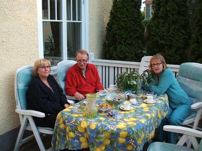 Kerstin Hobstig på besök hos Alf och Ewa