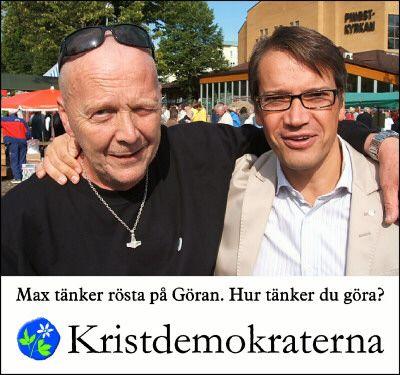 Partiledare Hägglund med ingenjör Hobstig
