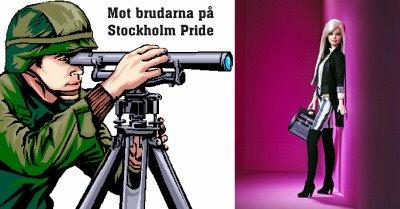 Lara Croft skjuter skarpt på Stockholm Pride