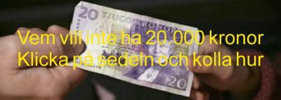 20.000 kronor på ett bräde